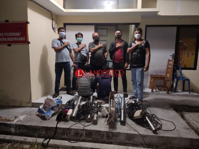 Meresahkan Petani, Komplotan Maling Pompa Air Ditangkap