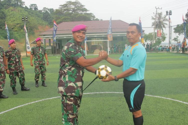 Meriahkan HUT Ke-74 RI, Yonif 7 Marinir Gelar Turnamen Futsal