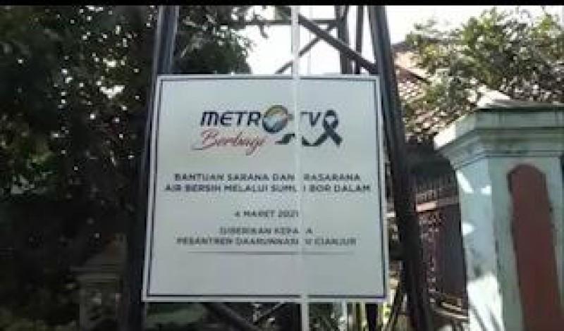 Metro TV Berbagi Membuat Sumur Bor untuk Pesantren di Cianjur