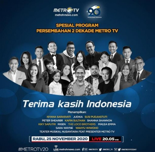 Metro TV Hadirkan Program Spesial di Peringatan HUT Ke-20