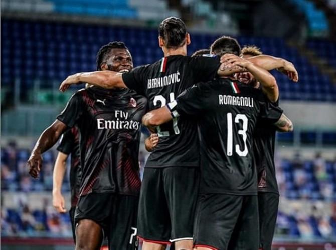 Milan Menang Telak atas Lazio