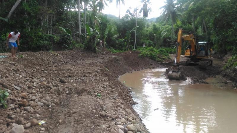Minimalisasi Banjir di Punduh Pidada, Sungai Soka Dinormalisasi