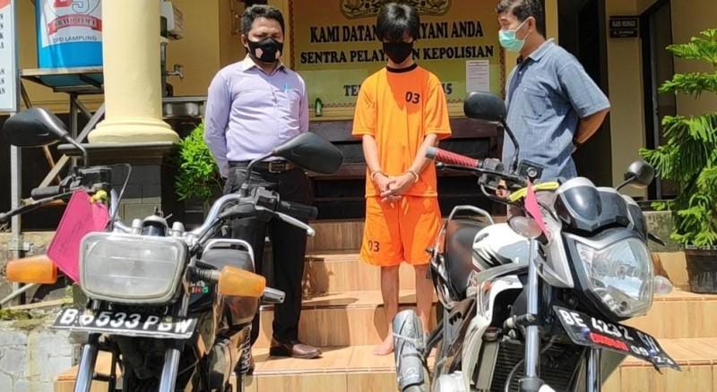 Motor Curian Mogok, Pelaku Tertangkap di Rumah Kosong
