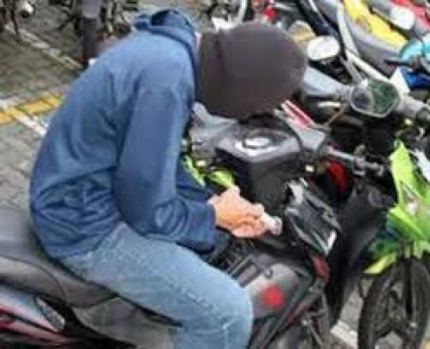 Motor Raib Digondol Pencuri Saat Belanja di Minimarket