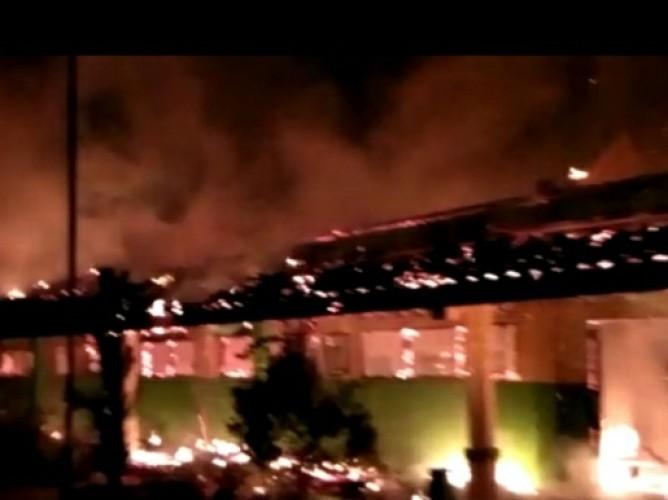 MTs Baiturahman Pugung Terbakar, Kerugian Capai Rp800 Juta