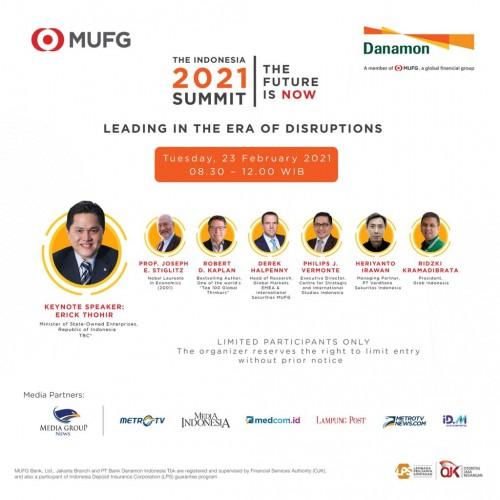 MUFG dan Danamon Bahas Peluang Kebangkitan Ekonomi 2021 di The Indonesia 2021 Summit