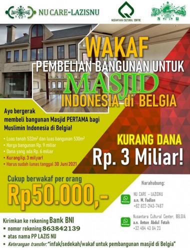 Muslim Indonesia Galang Donasi untuk Pembangunan Masjid di Brussels