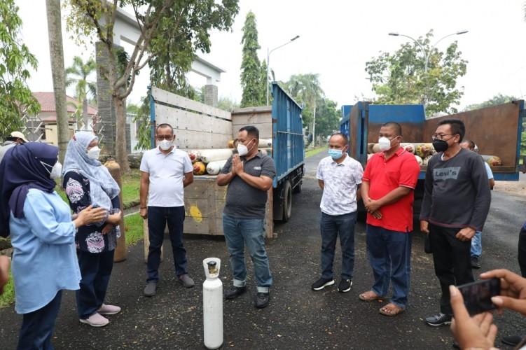 RSUD Bob Bazar Lamsel Dapat Suntikan 99 Tabung Oksigen