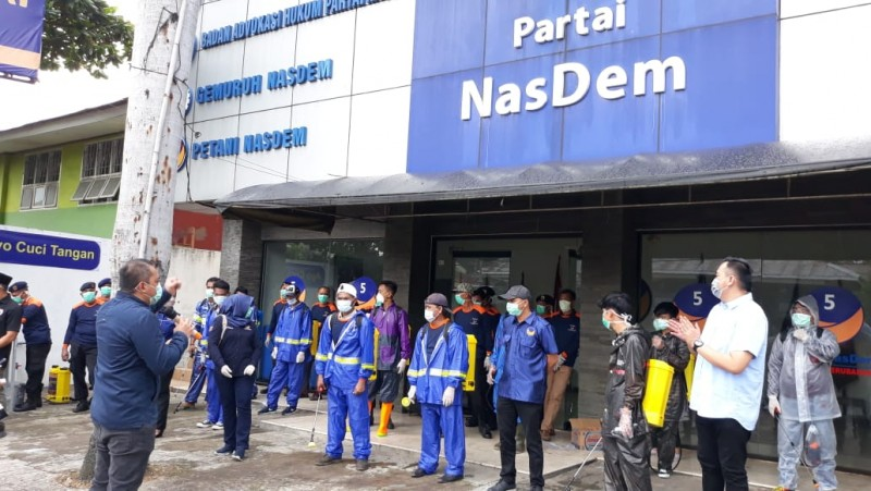 NasDem Lampung All Out Lawan Covid-19