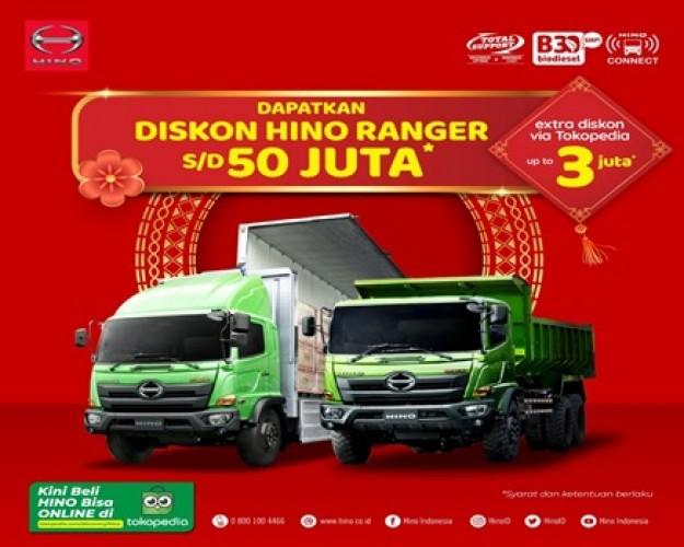 Nikmati Diskon Hino Ranger hingga Rp50 Juta