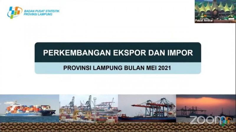 Nilai Ekspor Lampung pada Mei 2021 Capai USD331,73 Juta