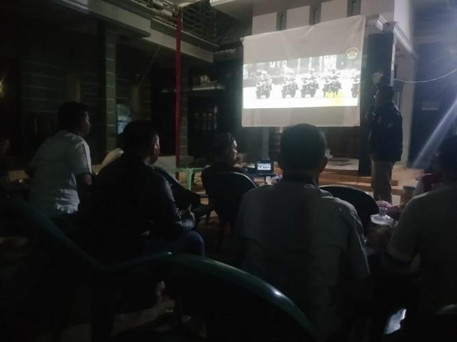 Nobar Piala dunia, Kapolres Mesuji sosialisasi Asian Games di Palembang