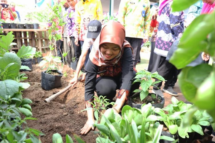 Nunik Ajak Masyarakat Kembangkan Hortikultura