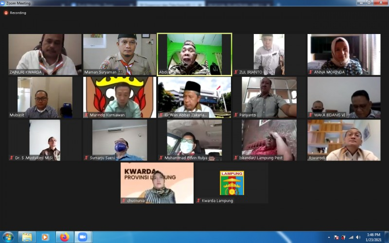 Nunik Pimpin Perkenalan dan Koordinasi Kwarda Lampung