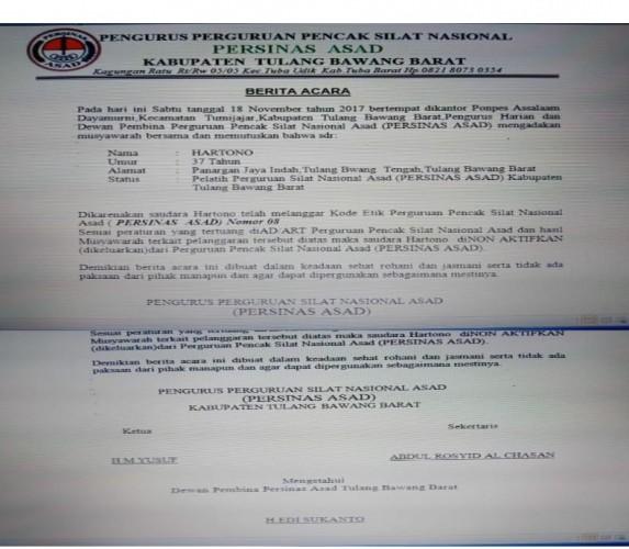 Oknum Pelatih Silat Cabul dapat Sanksi Keras dari Persinas