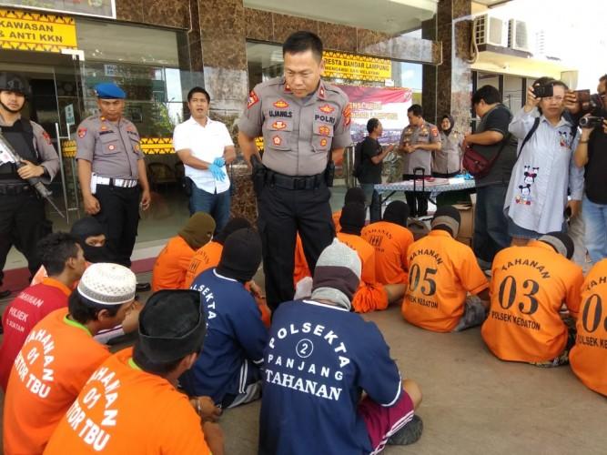 Operasi Cempaka di Bandar Lampung, Kasus Premanisme Mendominasi