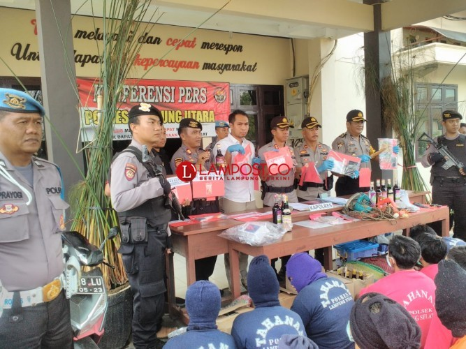 Operasi Cempaka di Lampura Ringkus 102 Pelaku Kriminal