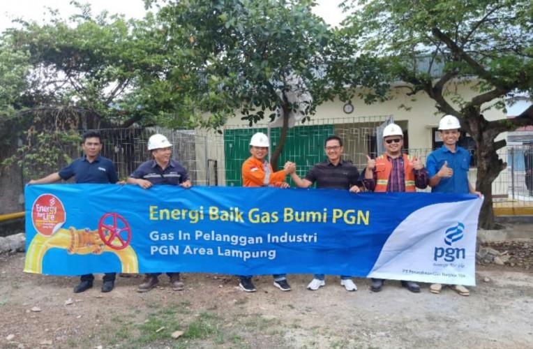 Pabrik di Lampung Beralih Gunakan Bahan Bakar Gas Bumi