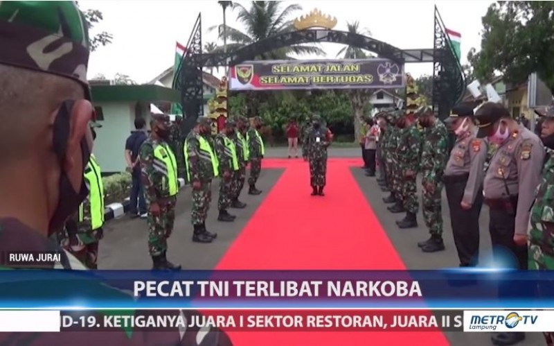 Pangdam II Sriwijaya Ancam Pecat Prajurit TNI AD Terlibat Narkoba