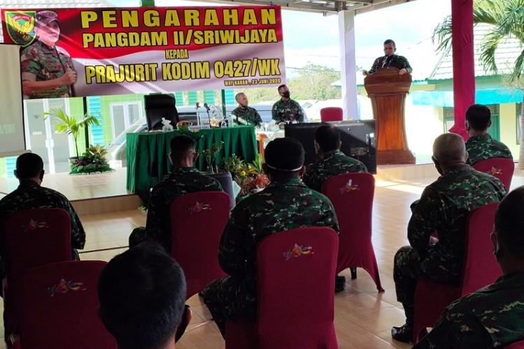 Pangdam Sriwijaya Minta TNI Semangat Jaga Keamanan di Tengah Pandemi