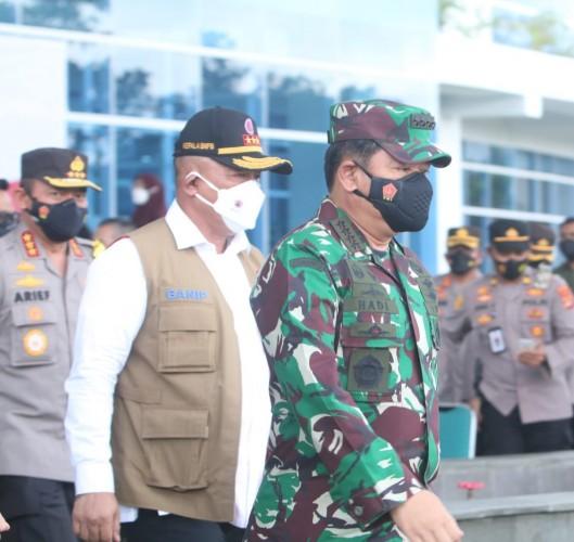 Panglima TNI Minta Vaksinasi di Lampung Dikebut dalam Sepekan