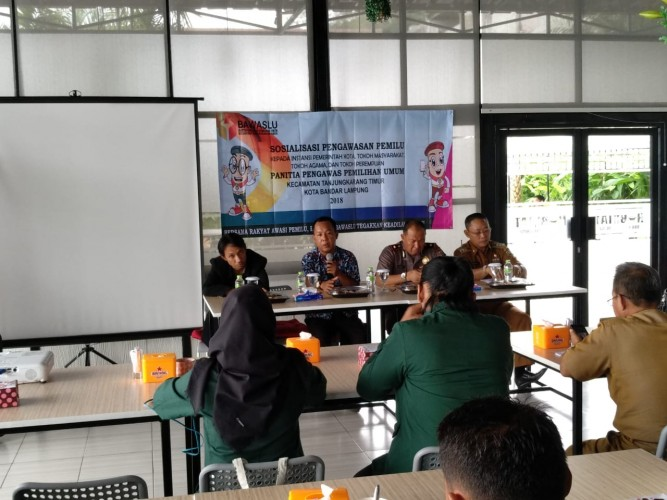 Panwaslu Tanjungkarang Timur Sosialiasi Pengawasan Pemilu