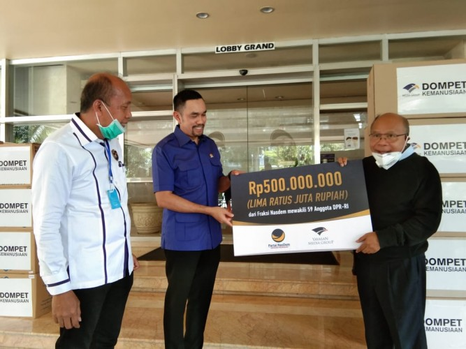 Partai NasDem Donasikan Rp500 Juta ke DK Media Group