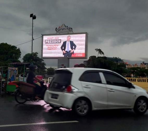 Pasang Baliho Capres di Bandar Lampung, Sahroni: Cuma untuk Memotivasi Anak Muda