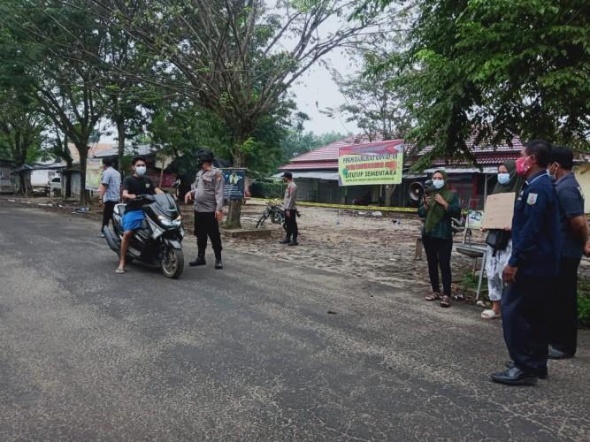 Pasar Bandarsari di Way Kanan Ditutup karena PPKM Darurat
