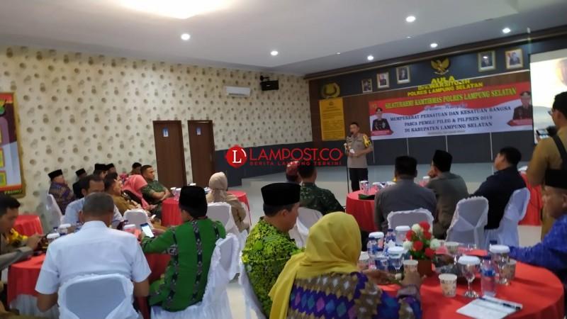 Pasca-Pemilu, Polres Lamsel Ajak Masyarakat Jaga Kerukunan