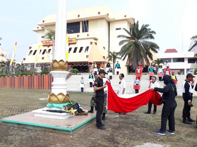 Paskibraka Lampung Disiapkan untuk Pengibaran Bendera HUT RI