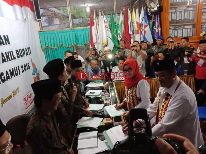 Paslon Dewi-Syafii Unggul dalam Pleno Rekapitulasi Pilbup Tanggamus