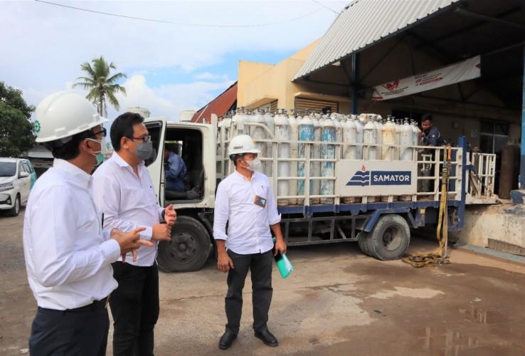 Pastikan Suplai Listrik Aman, GM PLN UID Lampung Kunjungi Industri Oksigen