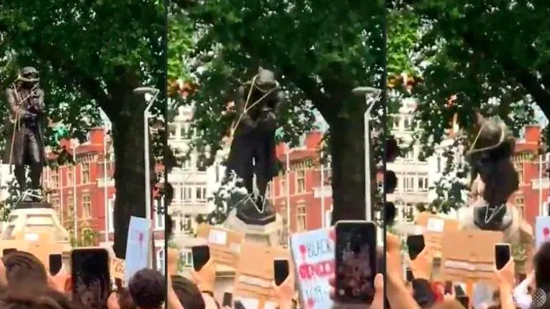 Patung Pedagang Budak Inggris Dirobohkan Pedemo Antirasisme