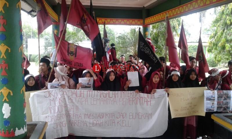 PC-IMM Lampura Gelar Aksi Solidaritas Muslim Uighur, China