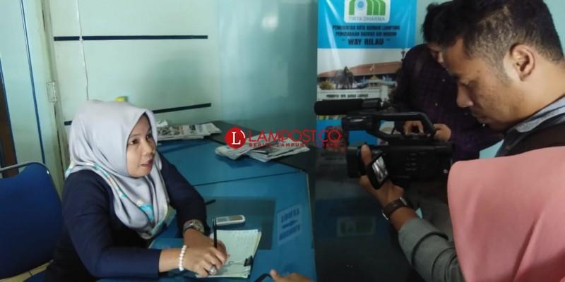 PDAM Way Rilau Imbau Warga Hemat Gunakan Air Bersih