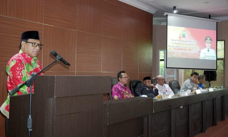 Pejabat Eselon III Pemkab Lamsel akan Diuji Kompetensi dan Kinerja