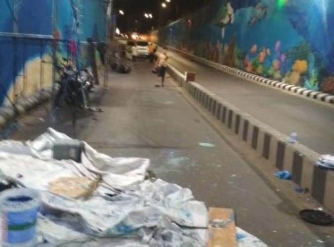 Pekerja Mural Underpass Unila dapat Jaminan Keamanan dari Pemkot