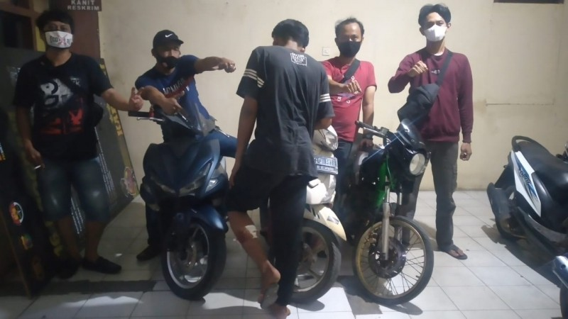 Pelajar Pencuri Motor saat Sahur Dilumpuhkan Timas Panas