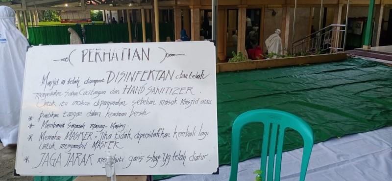 Pelaksanaan Salat Id di Bandar Lampung Terapkan Protokol Kesehatan