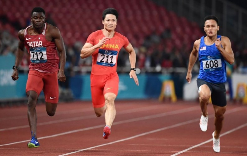 Pelari Tiongkok Pecahkan Rekor, Zohri Gagal Raih Medali