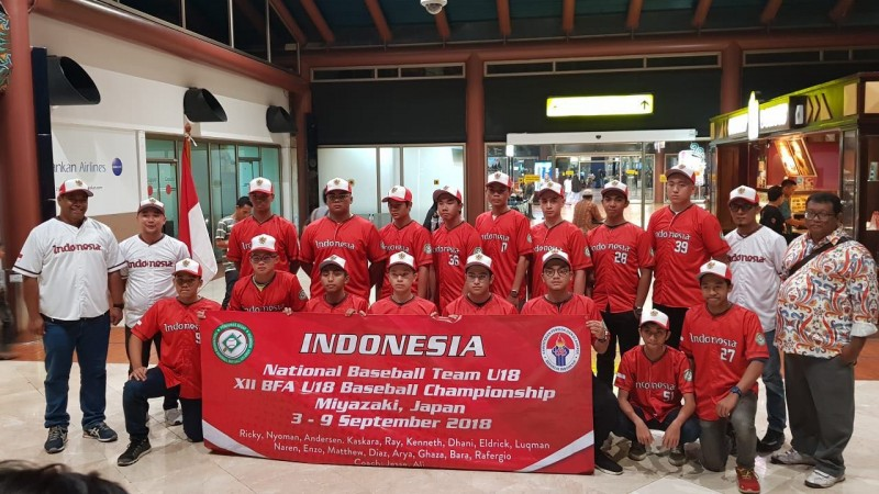 Pelatih dan Atlet Bisbol Lampung Perkuat Timnas U-18 di Jepang