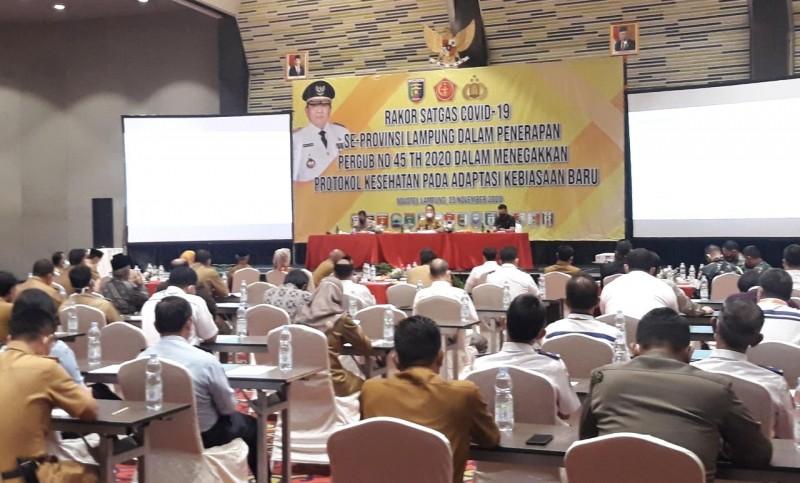 Pemangku Kepentingan Bahas Serius Penegakan Protokol Kesehatan di Lampung