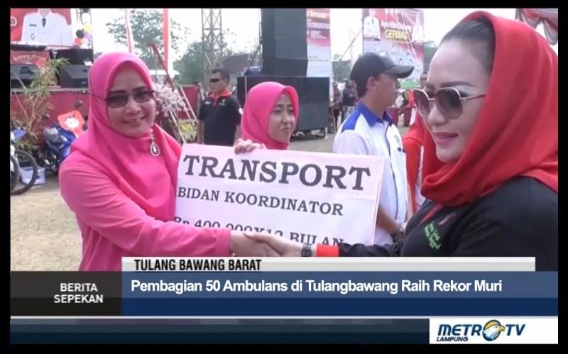 Pembagian 50 Ambulans di Tulangbawang Raih Rekor Muri