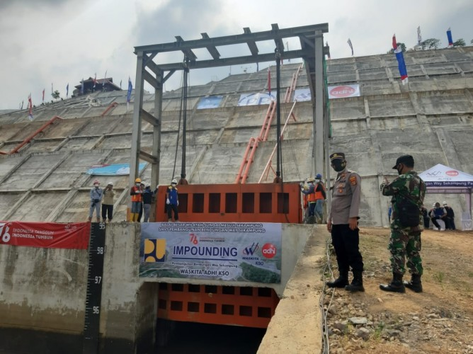 Pembangunan Bendungan Way Sekampung Tinggal Tahap Penggenangan