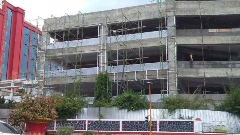 Pembangunan Gedung Parkir Pemkot Bandar Lampung Selesai Akhir Tahun