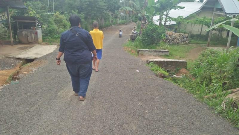 Pembangunan Jalan di Way Empulau Ulu Dinilai Asal-asalan