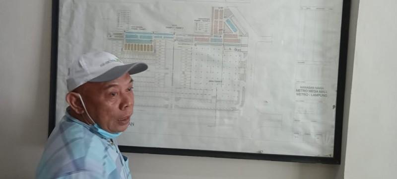 Pembangunan Pagar Pembatas Pasar Shopping Dihentikan Sementara