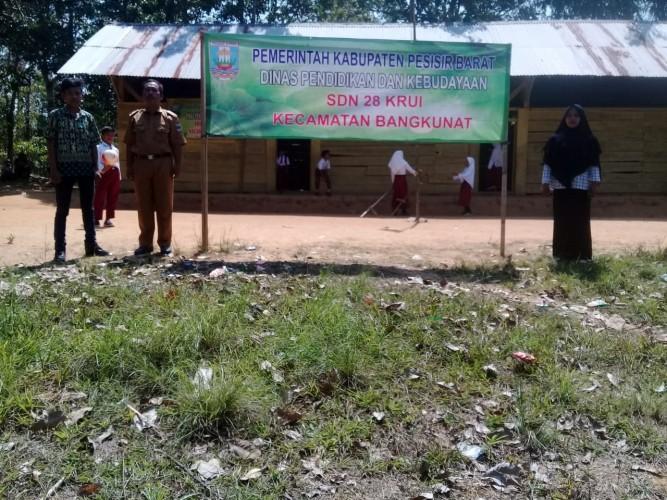 Pembangunan SDN 28 Krui di Zona Kawasan Hutan Disetop