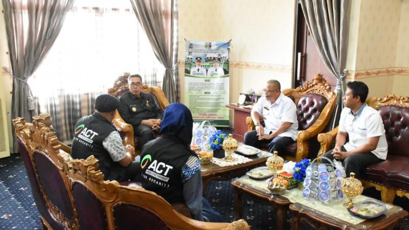 Pemkab Lampung Timur dan ACT Rencanakan Kolaborasi Kegiatan